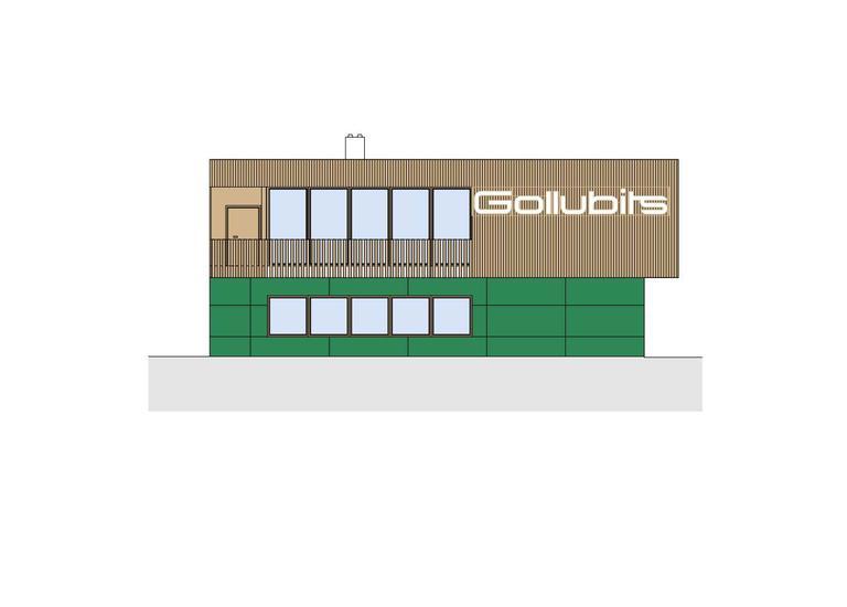 Neues Mannschaftsgebäude Gollubits