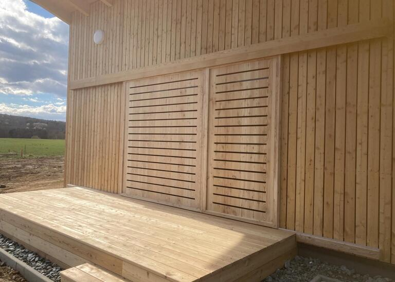 Kleingarten Haus Holzmassiv-Bau Gollubits
