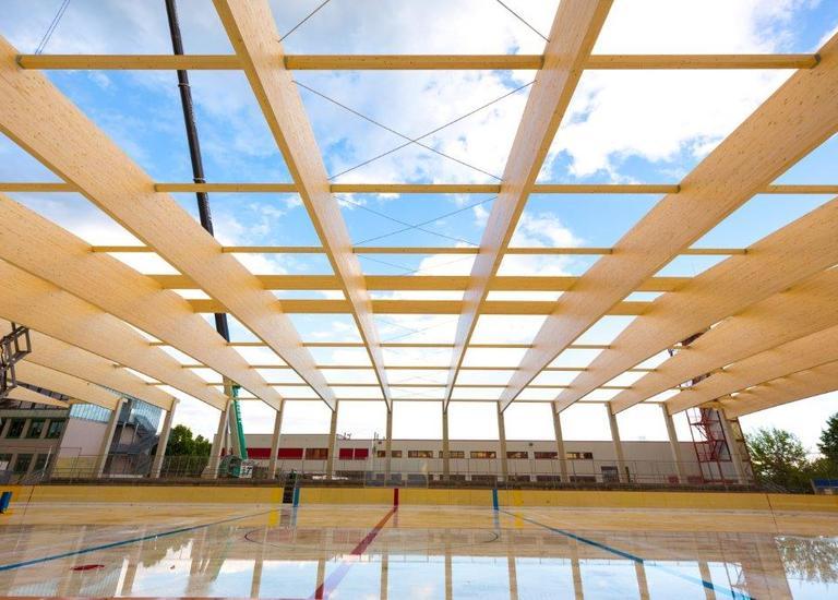 Dachstuhl Eislaufhalle Eisenstadt Allsportzentrum