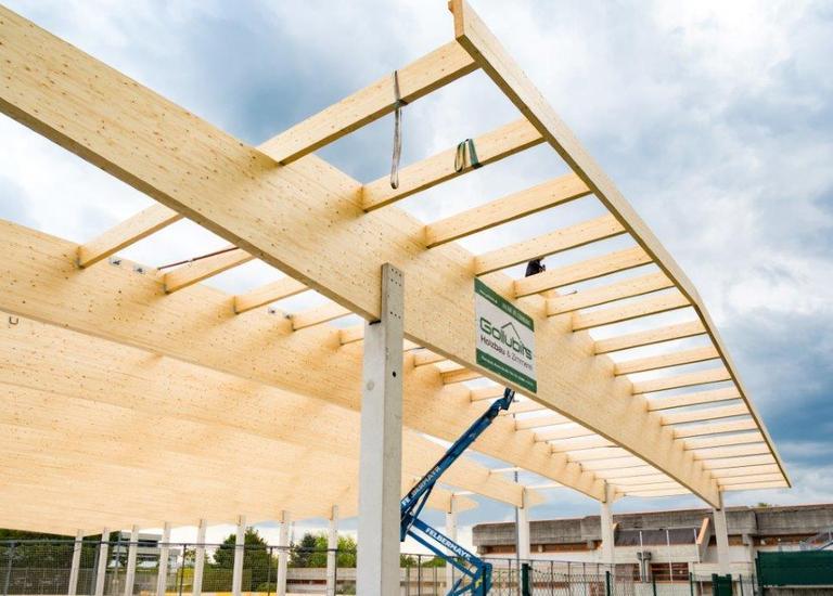 Errichtung Dach Eislaufhalle Eisenstadt Allsportzentrum