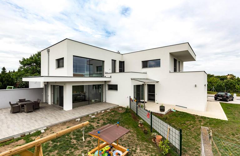 Fertigteilhaus Draßburg Außenansicht 1