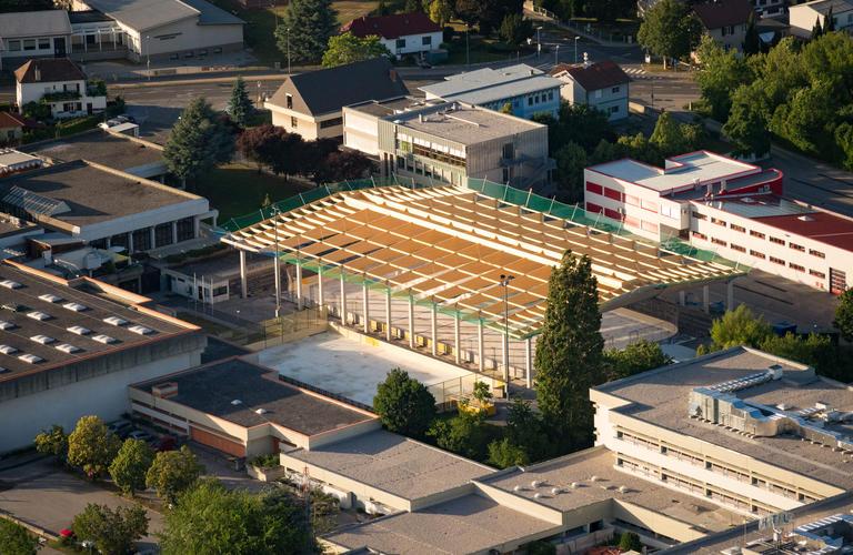 Dachstuhl Eislaufhalle Eisenstadt 1