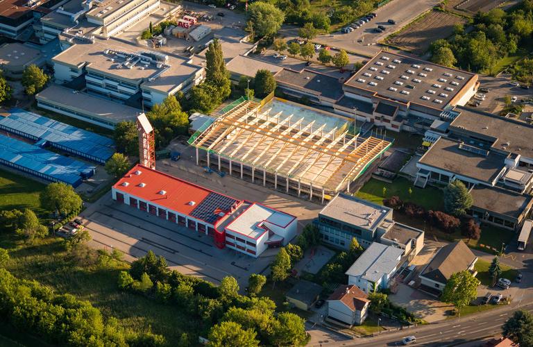 Dachstuhl Eislaufhalle Eisenstadt 2