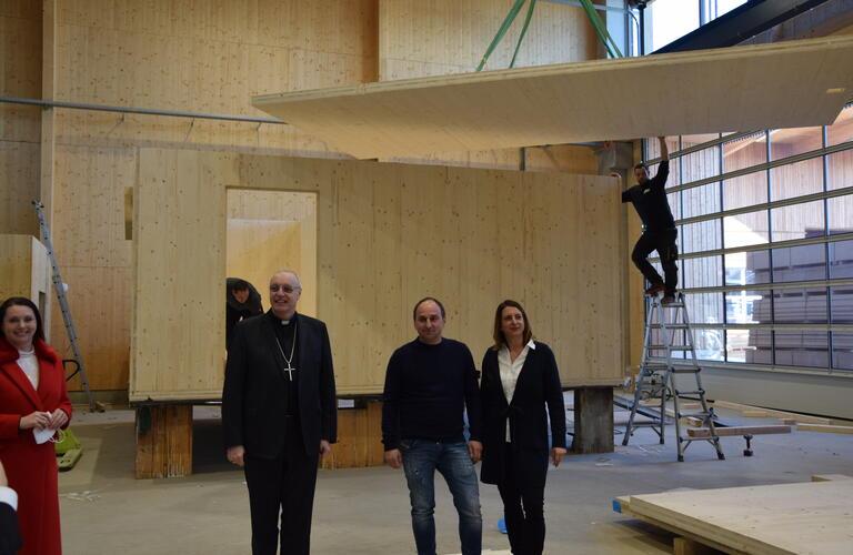 Yvonne & Franz Gollubits und Bischof Zsifkovics
