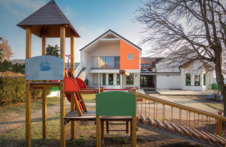 Kindergarten Großhöflein Innengestaltung aus Holz