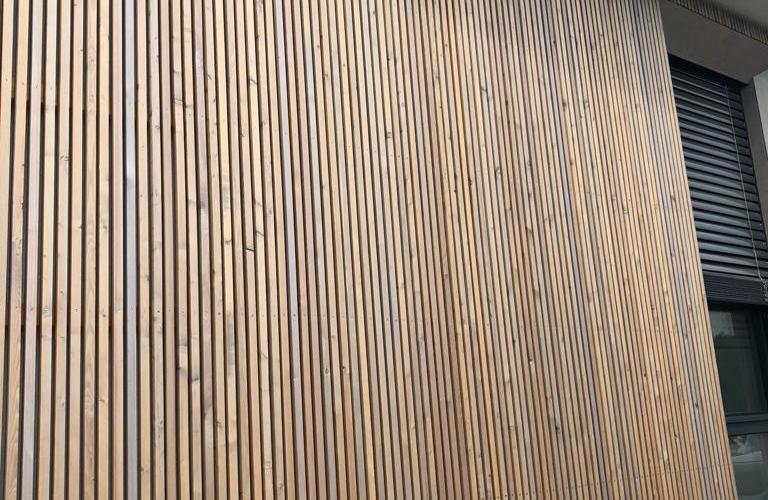 Holzfassade Orthopädisches Zentrum Wr. Neustadt